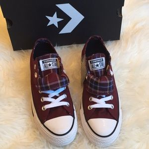 Converse All Star double tongue ox blood low tops